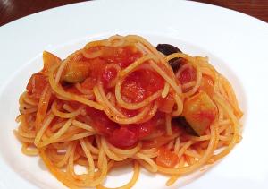 夏野菜のラタトゥイユパスタ Spaghetti with ratatouille