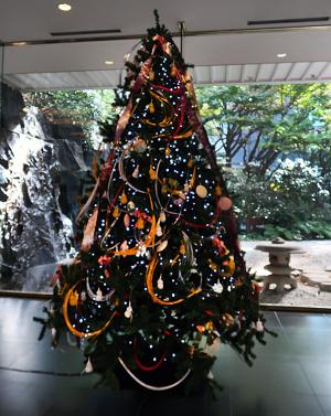 目黒雅叙園のクリスマスツリー