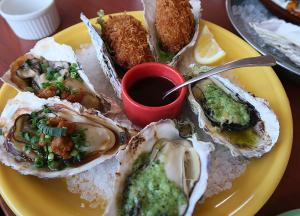 焼き牡蠣とカキフライ