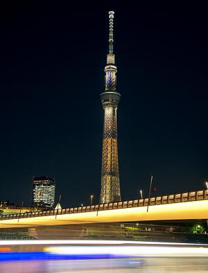 東京スカイツリー新ライティング「幟(のぼり)」