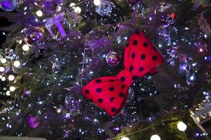 渋谷ヒカリエの ミッキー&ミニー クリスマスツリー