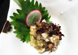 長芋とつぶ貝のわさび漬け