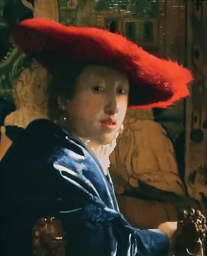 ヨハネス・フェルメール 赤い帽子の娘