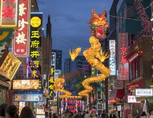 横浜中華街「2019春節燈花」