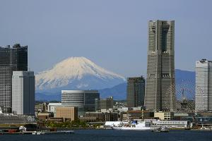 横浜ベイブリッジ・スカイウォークから見た富士山
