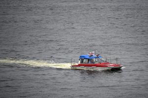 神奈川県警 横浜水上警察署の警備艇「神11やまゆり」
