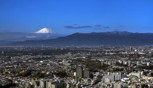 富士山と丹沢山地