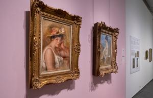 ピエール=オーギュスト・ルノワール《帽子の娘》&《浴女》