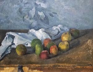 ポール・セザンヌ《りんごとナプキン》
