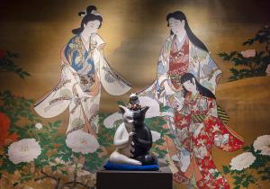 千の福ねこアート展at百段階段