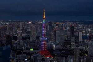 東京タワー五輪応援ライトアップ