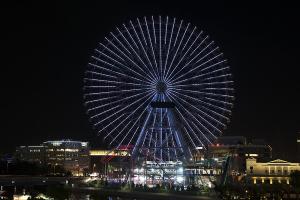 TOKYO2020動くピクトグラムを映し出す大観覧車コスモクロック21