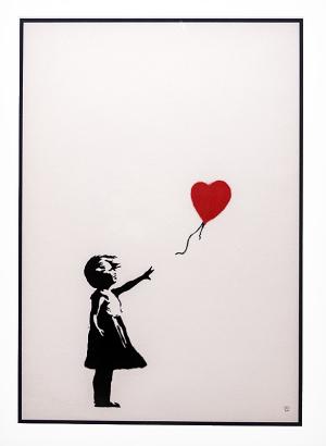 「Girl with Balloon(風船と少女)」→「Love is in the Bin(愛はごみ箱の中に)」